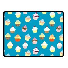 Cupcakes Pattern Fleece Blanket (small) by Valentinaart