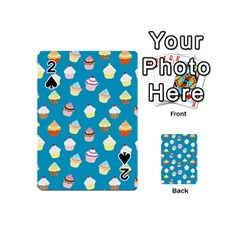 Cupcakes Pattern Playing Cards 54 (mini)  by Valentinaart
