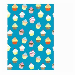 Cupcakes Pattern Large Garden Flag (two Sides) by Valentinaart