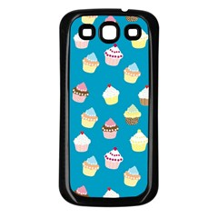 Cupcakes Pattern Samsung Galaxy S3 Back Case (black) by Valentinaart