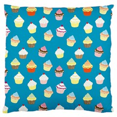Cupcakes Pattern Large Flano Cushion Case (two Sides) by Valentinaart