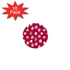Cupcakes pattern 1  Mini Buttons (10 pack)