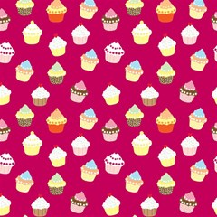 Cupcakes Pattern Magic Photo Cubes by Valentinaart