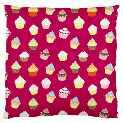 Cupcakes Pattern Standard Flano Cushion Case (one Side) by Valentinaart