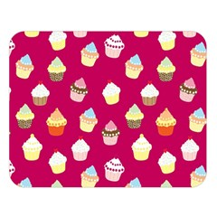 Cupcakes Pattern Double Sided Flano Blanket (large)  by Valentinaart
