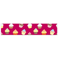 Cupcakes Pattern Flano Scarf (small) by Valentinaart