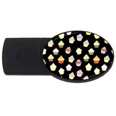 Cupcakes Pattern Usb Flash Drive Oval (2 Gb) by Valentinaart