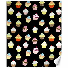 Cupcakes Pattern Canvas 8  X 10  by Valentinaart