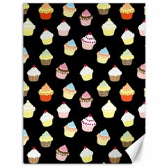 Cupcakes Pattern Canvas 36  X 48   by Valentinaart