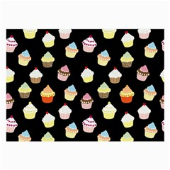 Cupcakes Pattern Large Glasses Cloth by Valentinaart
