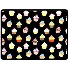 Cupcakes Pattern Fleece Blanket (large)  by Valentinaart
