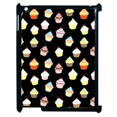 Cupcakes Pattern Apple Ipad 2 Case (black) by Valentinaart