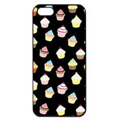 Cupcakes Pattern Apple Iphone 5 Seamless Case (black) by Valentinaart
