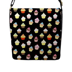 Cupcakes Pattern Flap Messenger Bag (l)  by Valentinaart