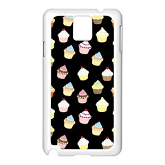 Cupcakes Pattern Samsung Galaxy Note 3 N9005 Case (white) by Valentinaart
