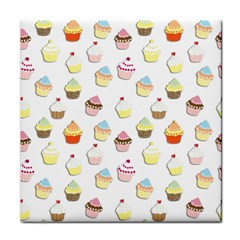 Cupcakes Pattern Face Towel by Valentinaart