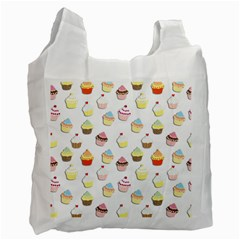 Cupcakes Pattern Recycle Bag (two Side)  by Valentinaart