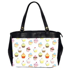 Cupcakes Pattern Office Handbags (2 Sides)  by Valentinaart