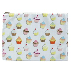 Cupcakes Pattern Cosmetic Bag (xxl)  by Valentinaart