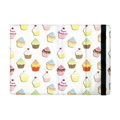 Cupcakes Pattern Apple Ipad Mini Flip Case by Valentinaart