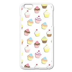 Cupcakes Pattern Apple Iphone 6 Plus/6s Plus Enamel White Case by Valentinaart