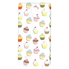 Cupcakes Pattern Galaxy Note 4 Back Case by Valentinaart