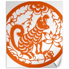 Chinese Zodiac Dog Canvas 20  X 24   by Onesevenart