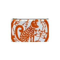 Chinese Zodiac Dog Cosmetic Bag (small)  by Onesevenart