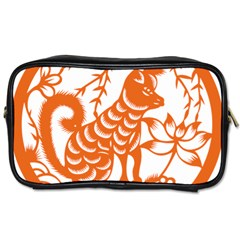 Chinese Zodiac Dog Toiletries Bags by Onesevenart