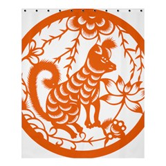 Chinese Zodiac Dog Shower Curtain 60  X 72  (medium)  by Onesevenart