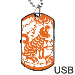 Chinese Zodiac Dog Dog Tag Usb Flash (two Sides) by Onesevenart