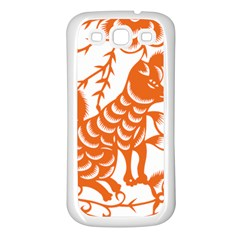 Chinese Zodiac Dog Samsung Galaxy S3 Back Case (White)