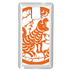 Chinese Zodiac Dog Samsung Galaxy Note 4 Case (white) by Onesevenart