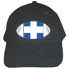 Greece National Emblem  Black Cap by abbeyz71