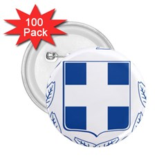 Greece National Emblem  2 25  Buttons (100 Pack)  by abbeyz71