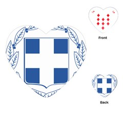Greece National Emblem  Playing Cards (heart)  by abbeyz71
