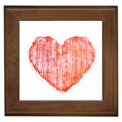 Pop Art Style Grunge Graphic Heart Framed Tiles by dflcprints