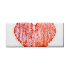 Pop Art Style Grunge Graphic Heart Cosmetic Storage Cases by dflcprints