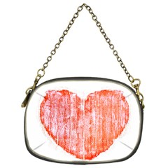 Pop Art Style Grunge Graphic Heart Chain Purses (one Side)  by dflcprints