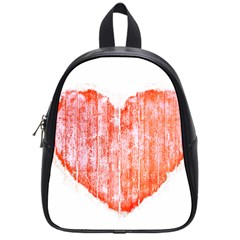 Pop Art Style Grunge Graphic Heart School Bags (small)  by dflcprints