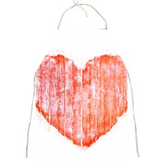 Pop Art Style Grunge Graphic Heart Full Print Aprons by dflcprints