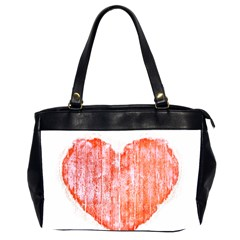 Pop Art Style Grunge Graphic Heart Office Handbags (2 Sides)  by dflcprints