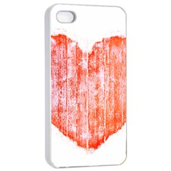 Pop Art Style Grunge Graphic Heart Apple Iphone 4/4s Seamless Case (white) by dflcprints