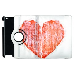 Pop Art Style Grunge Graphic Heart Apple Ipad 3/4 Flip 360 Case by dflcprints