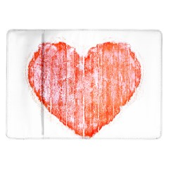 Pop Art Style Grunge Graphic Heart Samsung Galaxy Tab 10 1  P7500 Flip Case by dflcprints