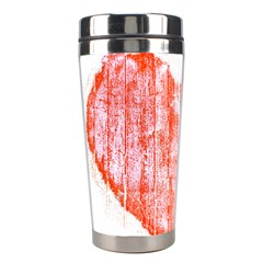 Pop Art Style Grunge Graphic Heart Stainless Steel Travel Tumblers by dflcprints