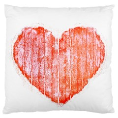 Pop Art Style Grunge Graphic Heart Large Flano Cushion Case (two Sides) by dflcprints
