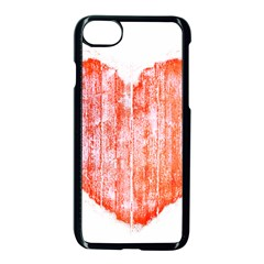 Pop Art Style Grunge Graphic Heart Apple Iphone 7 Seamless Case (black) by dflcprints
