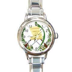 National Emblem Of Guatemala  Round Italian Charm Watch by abbeyz71
