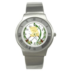 National Emblem Of Guatemala  Stainless Steel Watch by abbeyz71